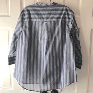 Chico's Soft Stripe Lara Top 3/4 Sleeve